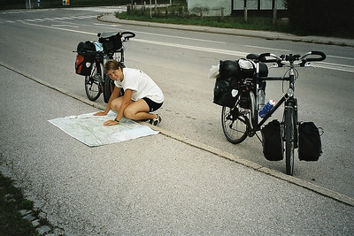 trying to read the map in Ivancna Gorica