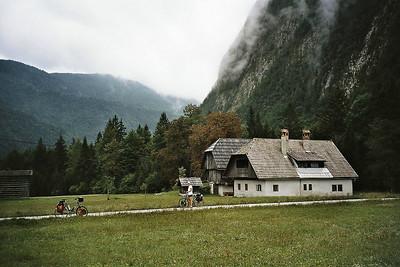 green valley following the river Radovna