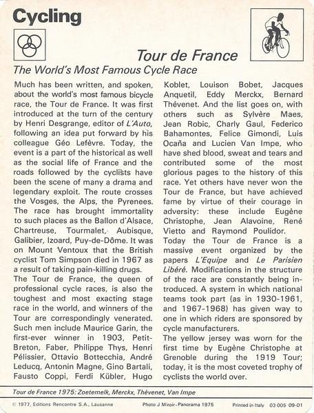 Tour De France 2 Back