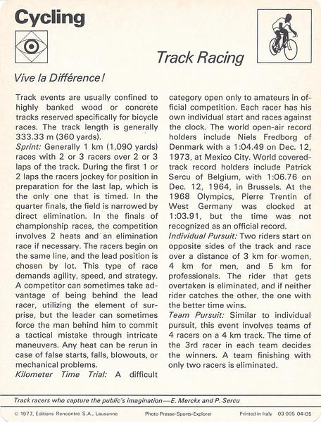 Track Racing Back