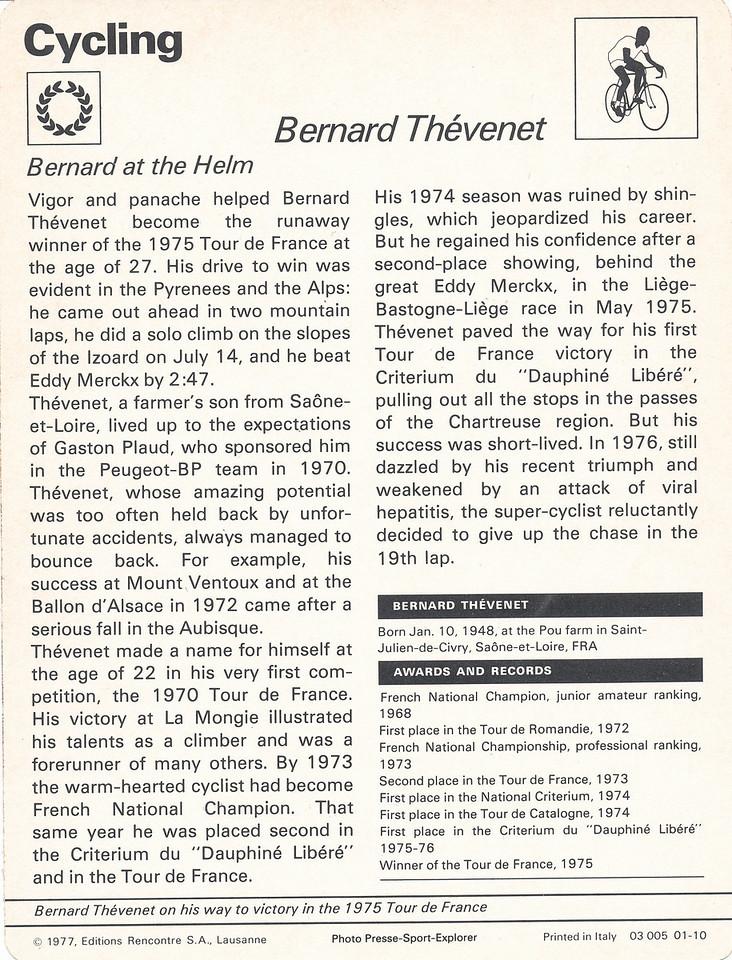 Bernard Thevenet Back
