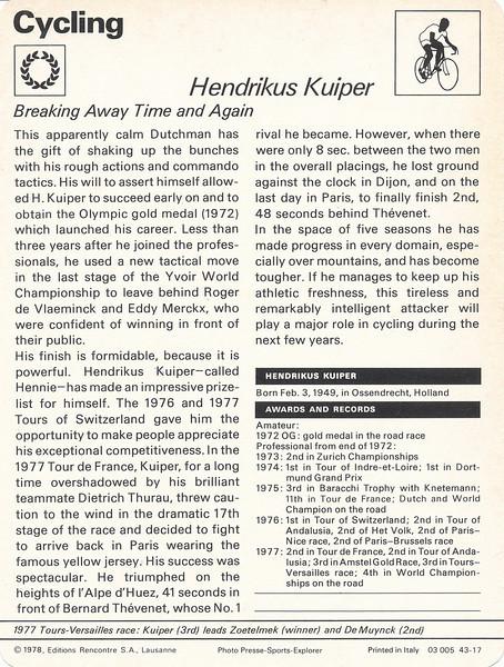 Kuiper Back