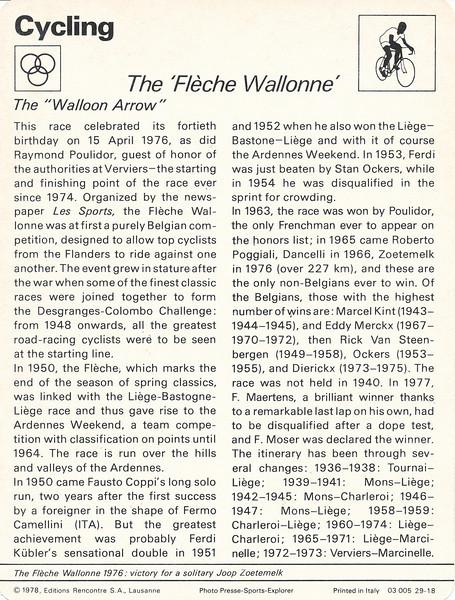 Fleche Wallonne Back