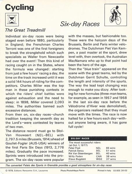 Six Day Races Back