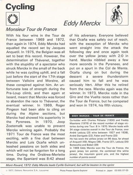 Eddy Merckx 2 Back