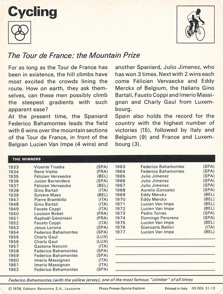 TDF Mountain Prize Back