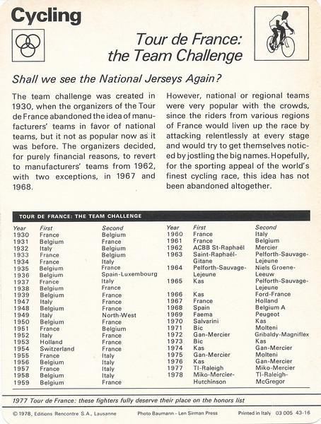 TDF Team Challenge Back