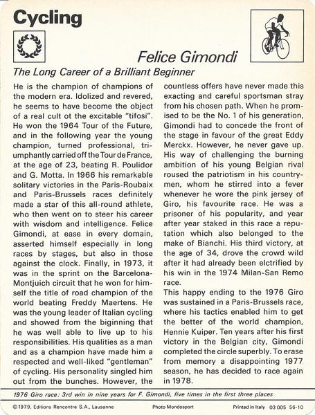 Felice Gimondi Back