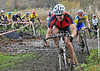 The Veterans race at the Cyclocross meeting at Strathclyde Park on 13 November 2011.