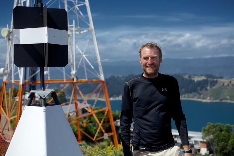 Thomas at the Summit of Mt Victoria, Wellington Feb 2013