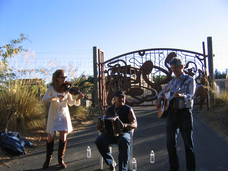 Some lovely musicians at the top of Mt. Veeder greeted us.