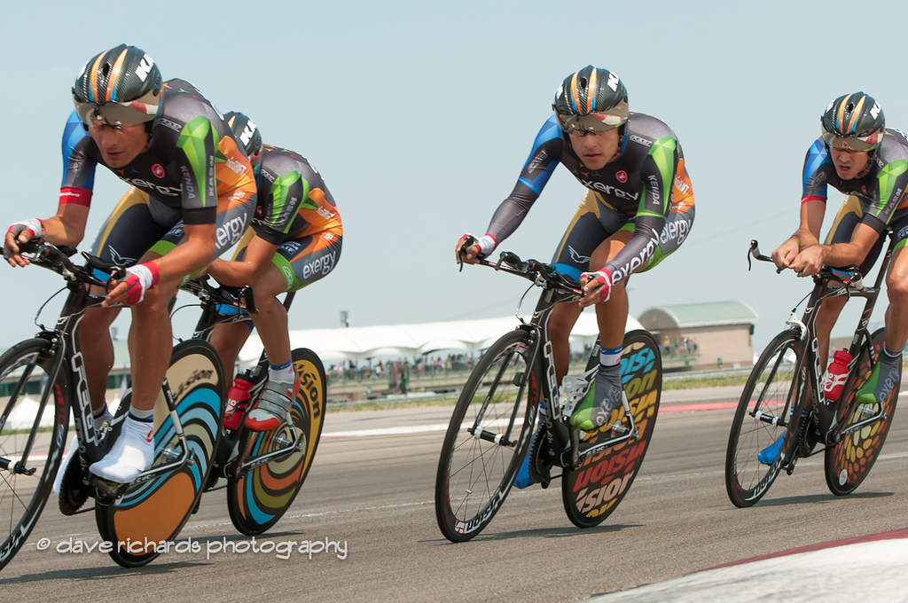 Team Exergy - check out those wild wheels!