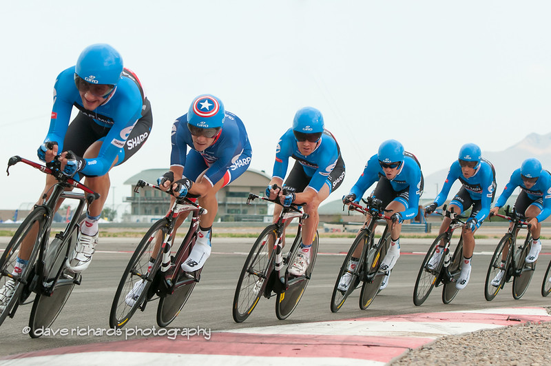 "Garmin Sharp Barracuda - Dave Zabriskie in second position with the ""Captain America"" helmet"