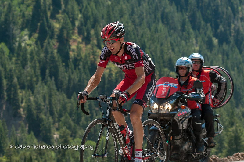 Stage Five winner Swiss ace, Johann Tschopp (BMC Racing) on the final climb to Snowbird Ski Resort