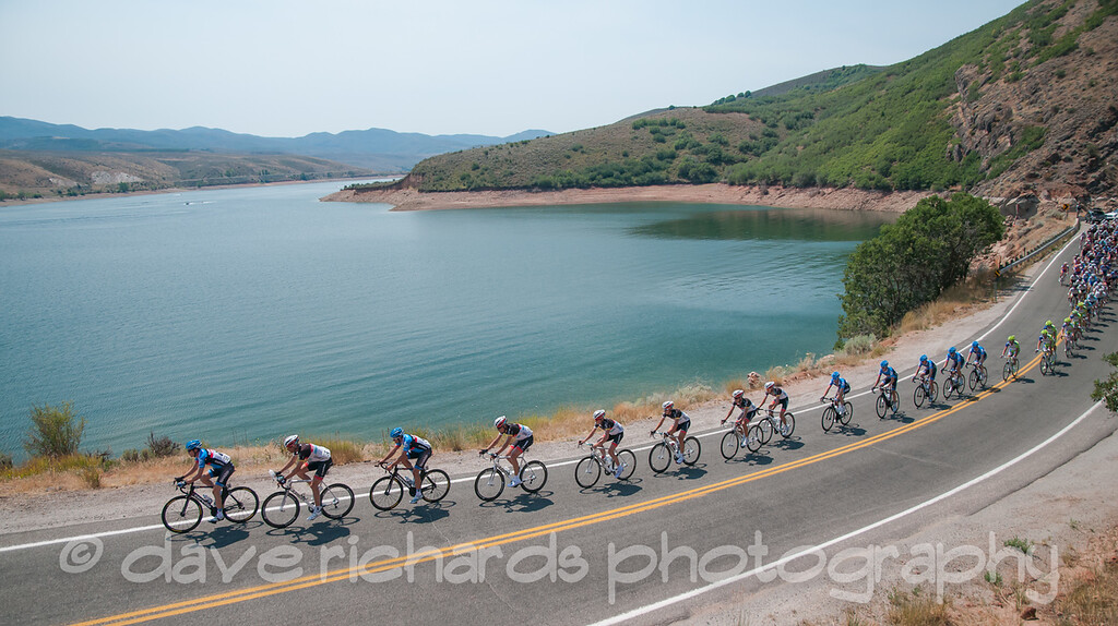 Peloton rides along East Canyon Reservoir