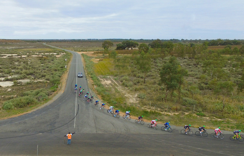 Tour of the Riverland Sunday race day from above