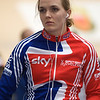 Victoria Pendleton getting ready to go under 11 seconds and qualify 1st.