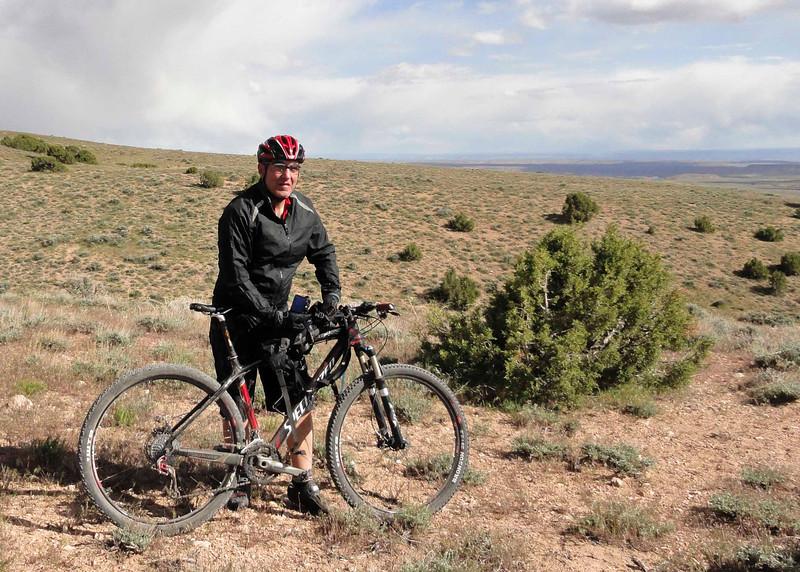Hugo taking a break on Jackalope trail.