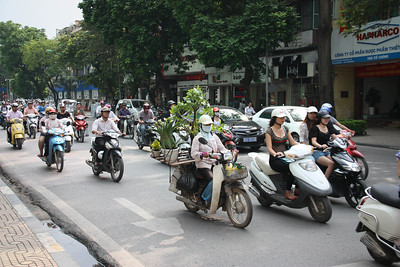 a regular streeet in Hanoi