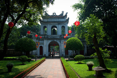 entrance to the Temple of Literature (Hanoi), which is dedicated to Confucius and where the first university of Vietnam was established