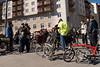 Samling där cykelturen startar på Södermalm i Stockholm. <br /> <br /> Gathering where the bike ride will start at Södermalm, Stockholm.