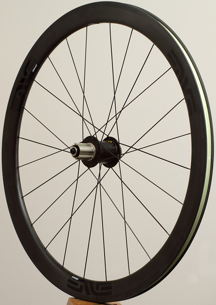 Alchemy hubs<br /> ENVE Smart System 3.4 clincher rims<br /> Sapim CX-Ray spokes with Sapim Race for the drive side