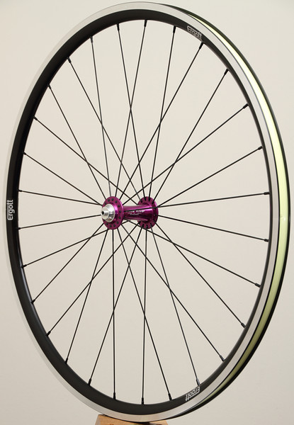 Chris King R45 hubs<br /> Pacenti SL23 rims<br /> Sapim CX-Ray spokes<br /> alloy nipples<br /> Stan's Yellow tape
