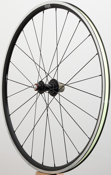 Alchemy UL hub<br /> Pacenti SL23<br /> Sapim CX-Ray/CX-Speed spokes<br /> alloy nipples
