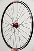 Alchemy hub<br /> Pacenti SL23<br /> Sapim CX-Ray/CX-Speed spokes<br /> alloy nipples