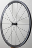 Alchemy Elf front hub<br /> Zipp 202 tubular rim<br /> Sapim CX-Ray spokes<br /> alloy nipples<br /> <br /> Set weighs 32g less than stock, are laterally stiffer, and have better hubs.