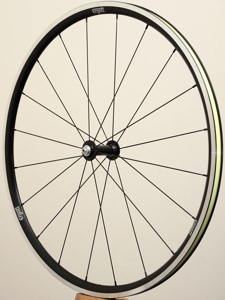 White Industries T11 hubs<br /> Pacenti SL23 rims<br /> Sapim CX-Ray spokes<br /> alloy nipples<br /> two layers of Stan's yellow tape