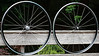 Alchemy hubs<br /> Kinlin XR-270 rims<br /> Sapim CX-Ray/Wheelsmith DB14 spokes