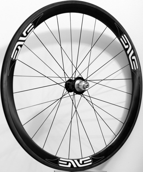 Alchemy hubs<br /> Enve Composites 45mm clincher rims<br /> Sapim CX-Ray spokes with Wheelsmith DB14 for rear, drive side