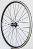 White Industries T11 hubs<br /> Pacenti SL23 rims<br /> Sapim CX Ray spokes, Sapim CX-Speed for the right, rear<br /> alloy nipples