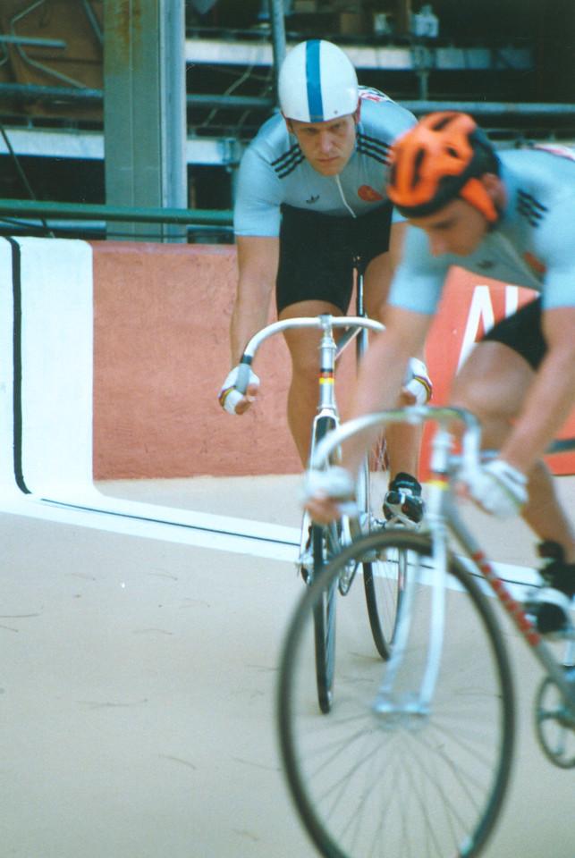 Two East German Sprinters 1989 World Championships, Lyon