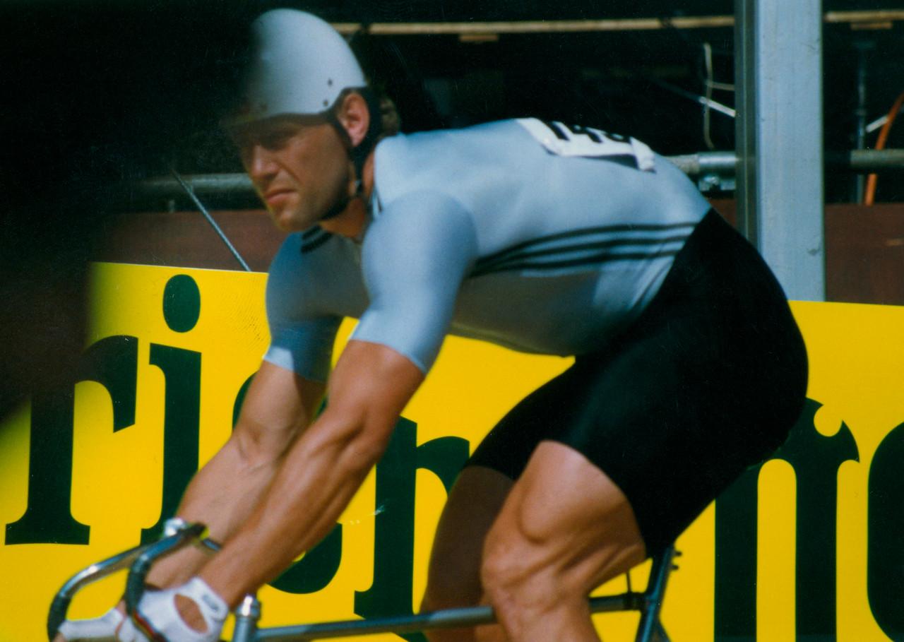 Michael Hubner (2) East Germany Sprinter Lyon 1989 Word Champs