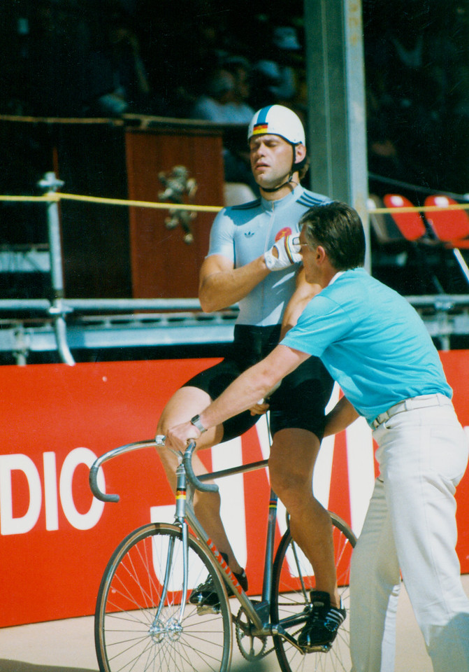 Michael Hubner (1) East Germany Sprinter Lyon 1989 Word Champs
