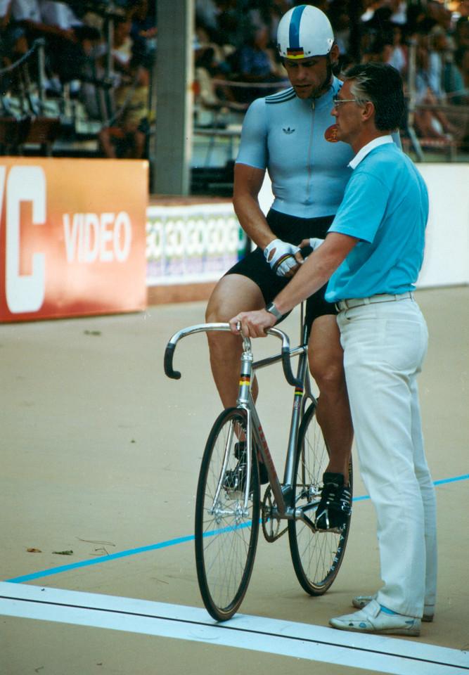 Michael Hubner (0) East Germany Sprinter Lyon 1989 Word Champs