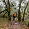Cycling in January in Annadel State Park, Sonoma County, California.