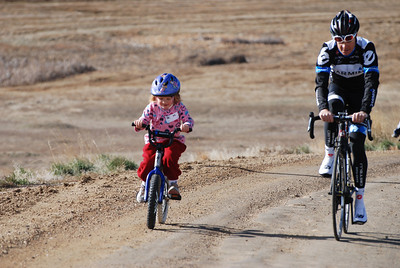 4 year old Bridget Robinson from Louisville, CO  showed great determination during her ride with Tom Danielson  @2011deirdremoynihan