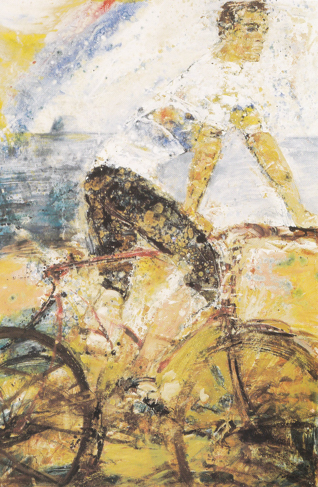 Peter McLaren, Rainbow Man, OIl on Board, 72 x 48 inches, Fleming Wyfold Foundation Collection