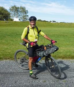 Simon riding the Tour Aotearoa 2018