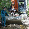 Derek and his 12 tonne Digger Kaitoke Mar 2013