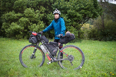 Grant from Hobart riding Tour Aotearoa 2018