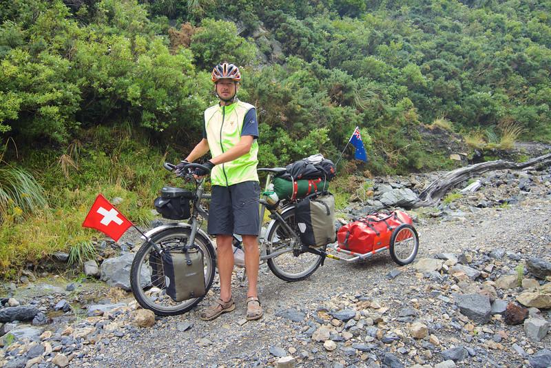 Daniel from Switzerland, Siberia, Rimutaka Rail Trail Mar 2016