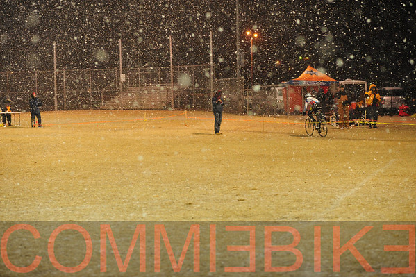 Tuesday night in the snow