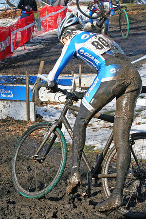 Muddy conditions at the Liberty Cup