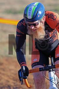 Robert Marion (41) competes in NC Cyclo-Cross Race #9 at Renaissance Park in Charlotte, North Carolina, on Sunday, November 17, 2019