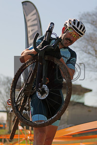 Christopher Wyatt (418) competes in NC Cyclo-Cross Race #9 at Renaissance Park in Charlotte, North Carolina, on Sunday, November 17, 2019