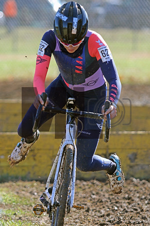 Raylyn Nuss (62) competes in the NC Cyclocross North Carolina Grand Prix at Jackson Park in Hendersonville, N.C., on Nov. 24, 2019